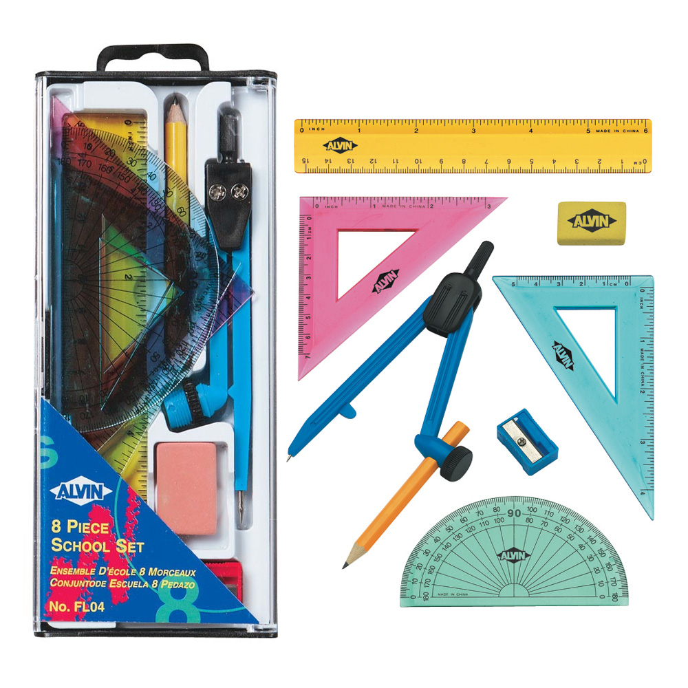 Alvin 8-Piece Geometry Set
