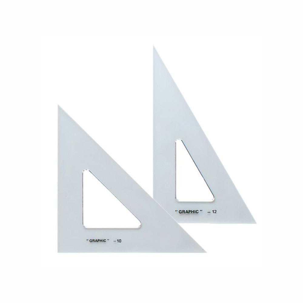 Alvin Transparent Triangle Set 10 And 12 Inch