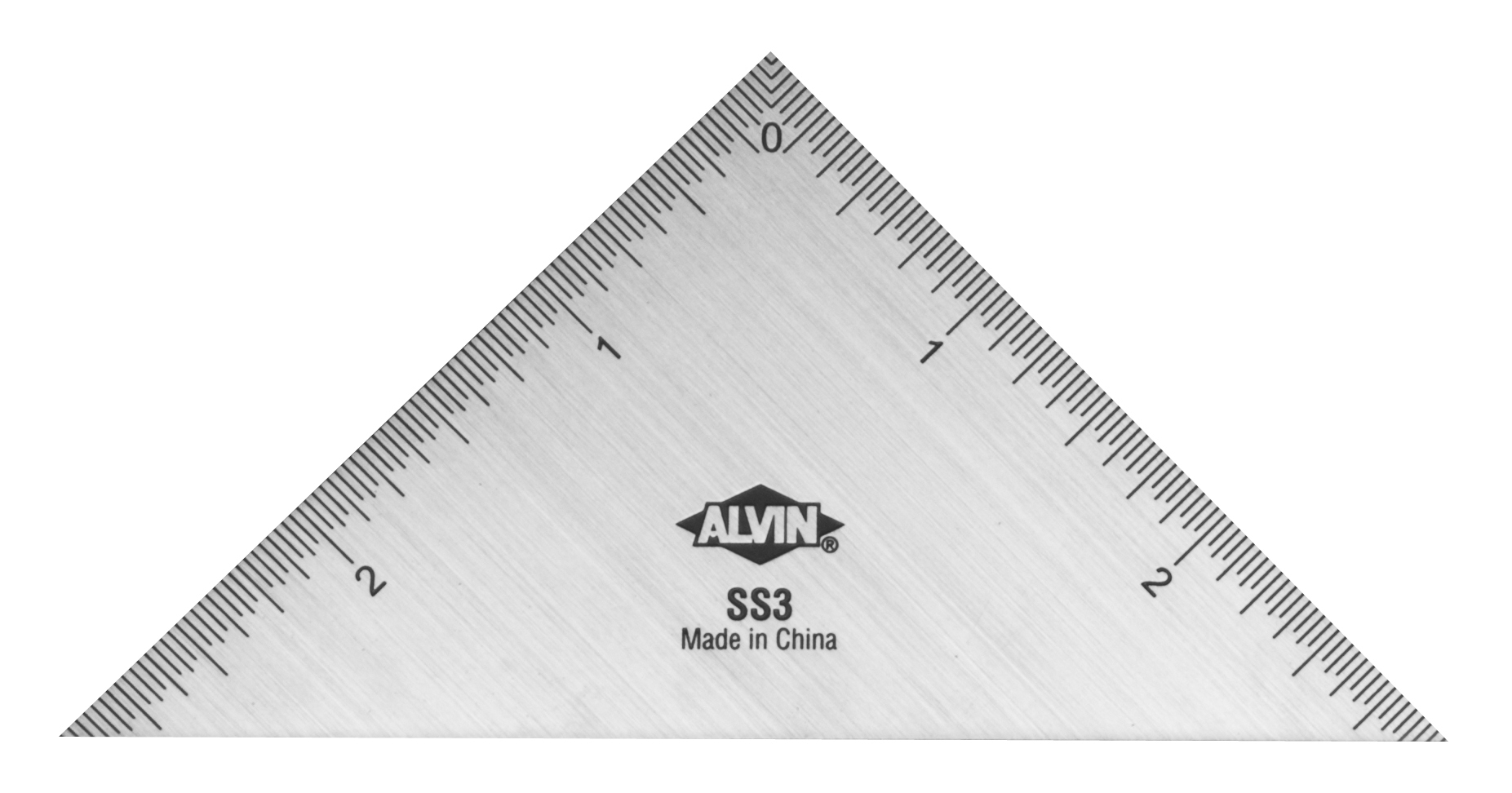 Alvin Stainless Steel Triangle Ruler 3 Inch