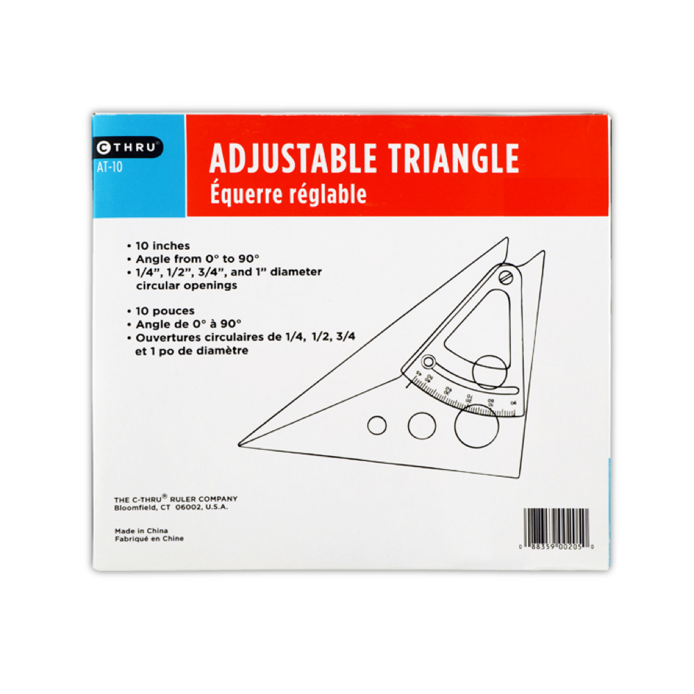 Scholastic Adjustable Triangle 10In