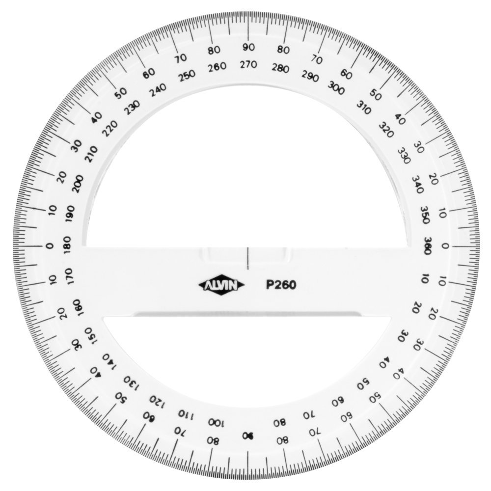 image relating to 360 Degree Protractor Printable identify Get Round Protractor 360 Level 6 Inch