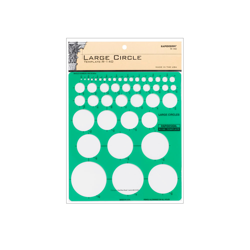 Rapidesign Template R-140 Lg Circles