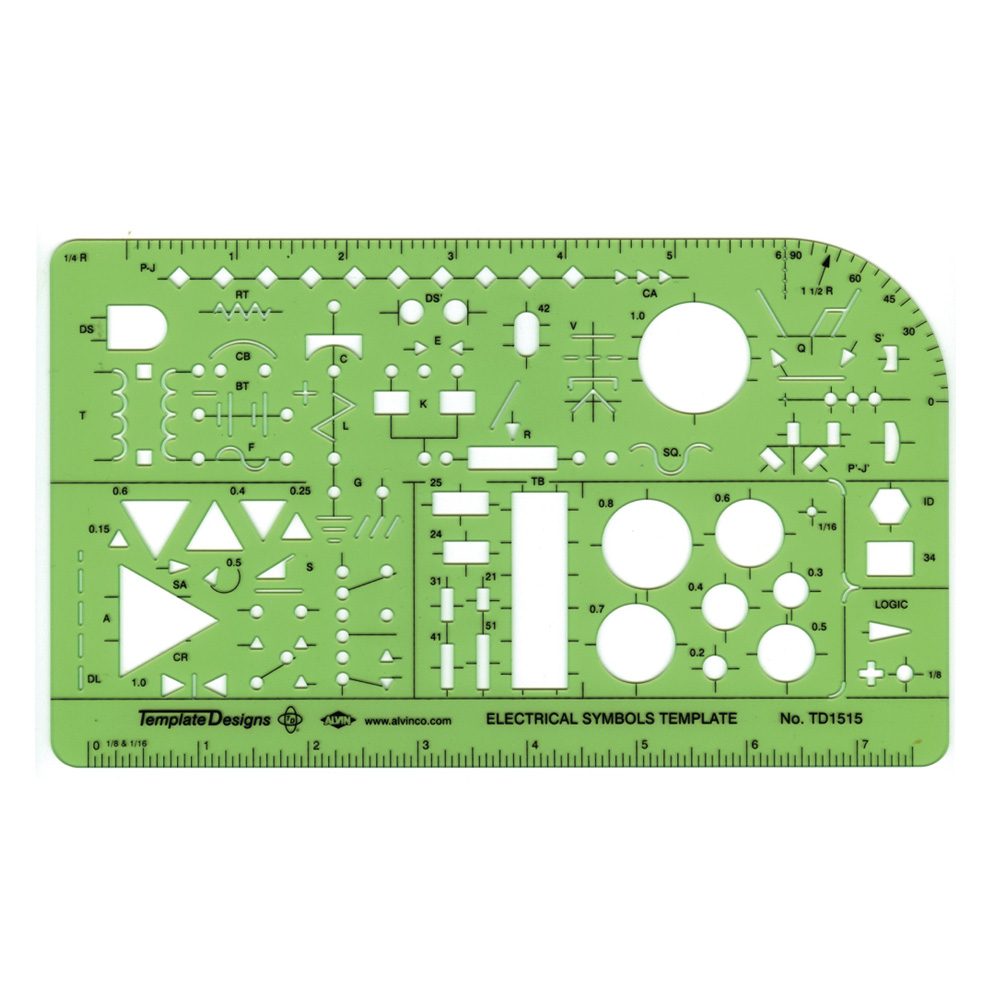 Alvin Electronics Template Td1515