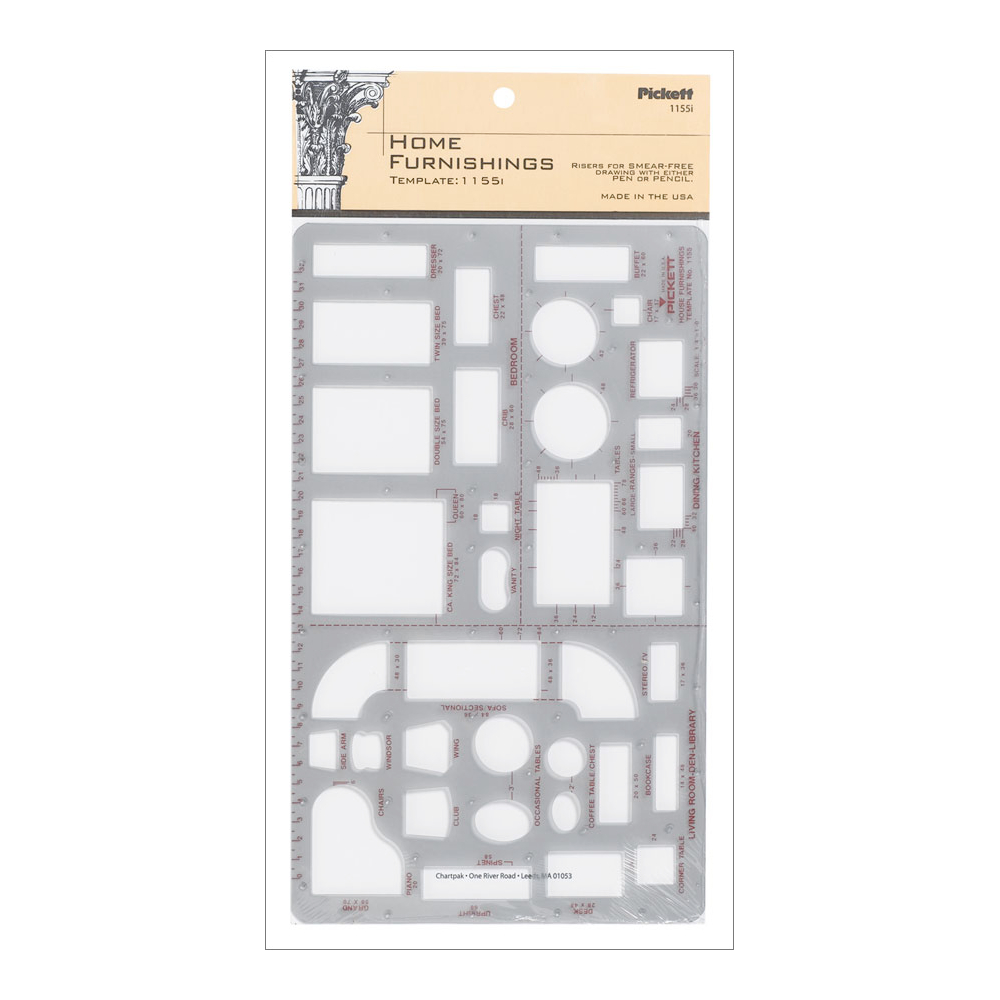 Pickett Template 1155-I Home Furnishing