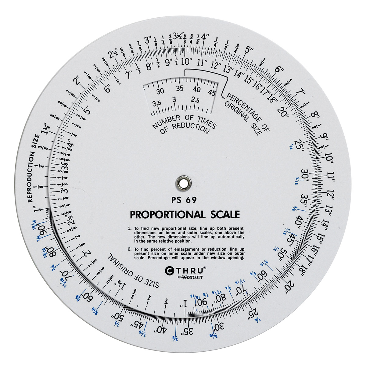Westcott Ps-69 5-Inch Proportional Scale