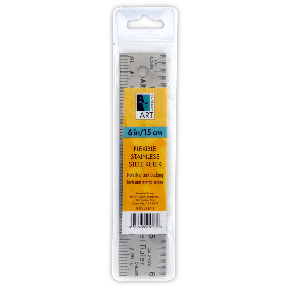 Aa Stainless Steel Corkback Ruler 6 Inch