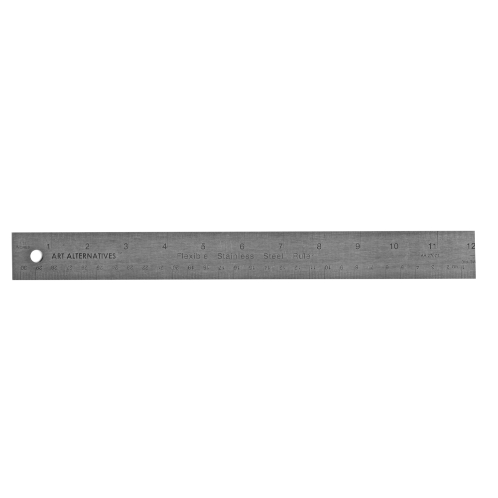 Flexible St Steel Corkback Ruler 12In