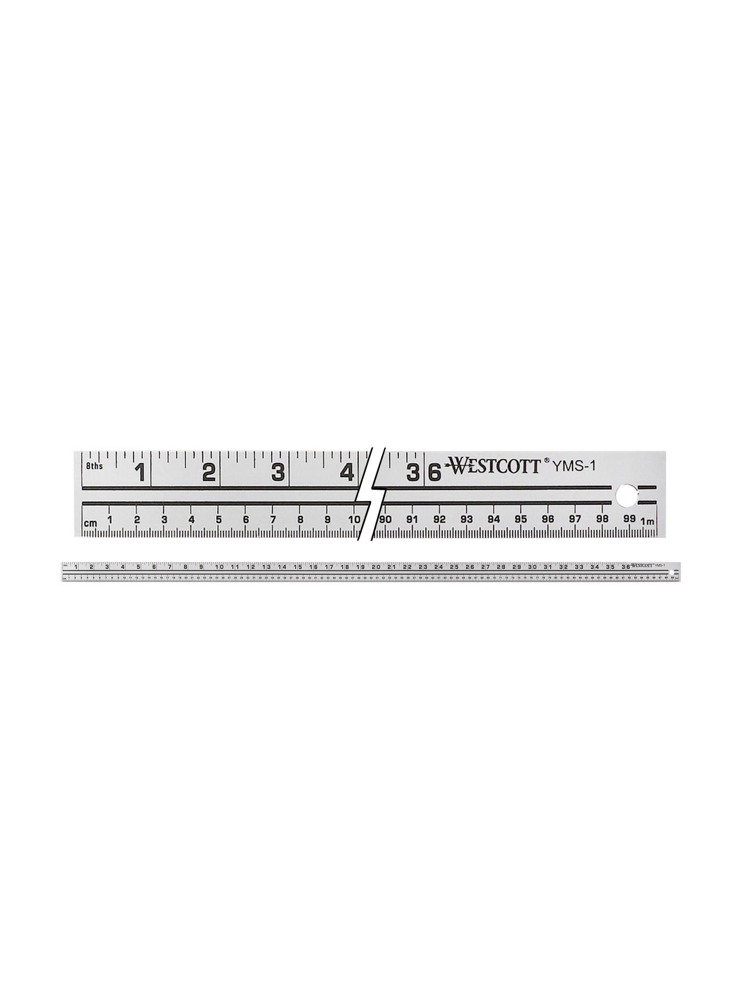 westcott yms-1 39in aluminum yard/meter stick