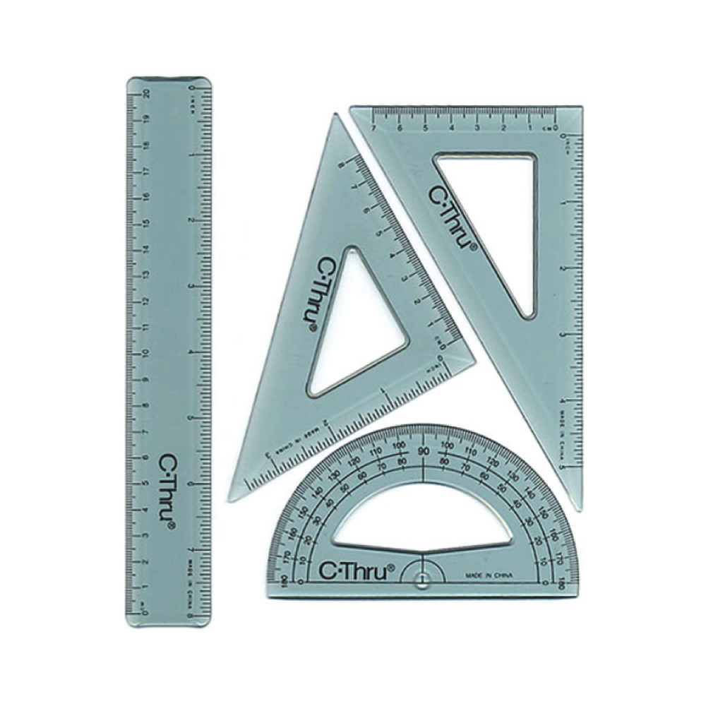 C-Thru Kt-2 8 Ruler Combo Set