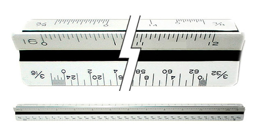 C-Thru Ts654 Architects Triangular Scale