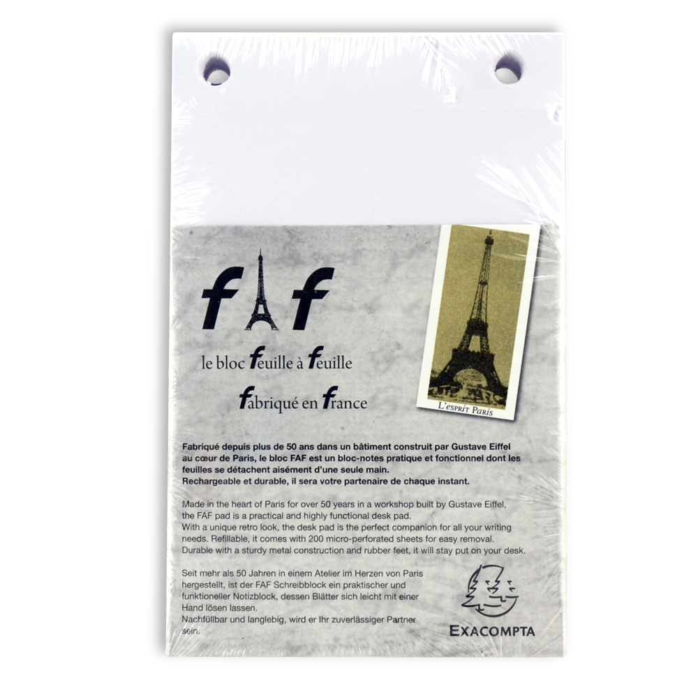 Exacompta Faf Desk Refill Pad Only No.2 Blank