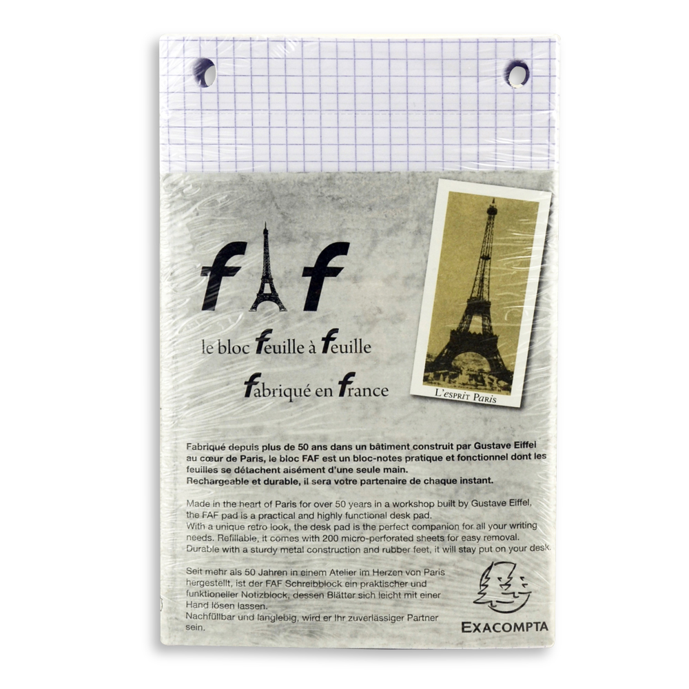 Exacompta Faf Desk Refill Pad Only No.3 Graph