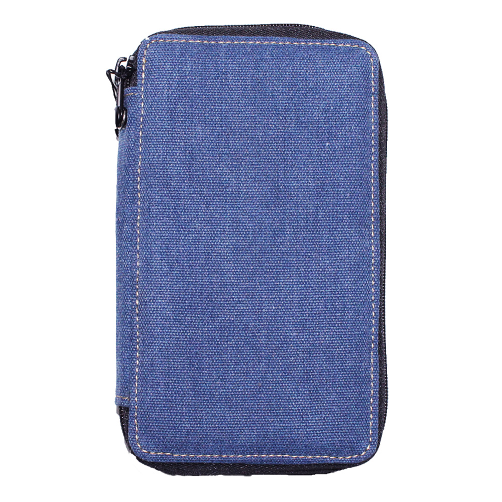 Global Art Canvas 48 Pencil Case Denim