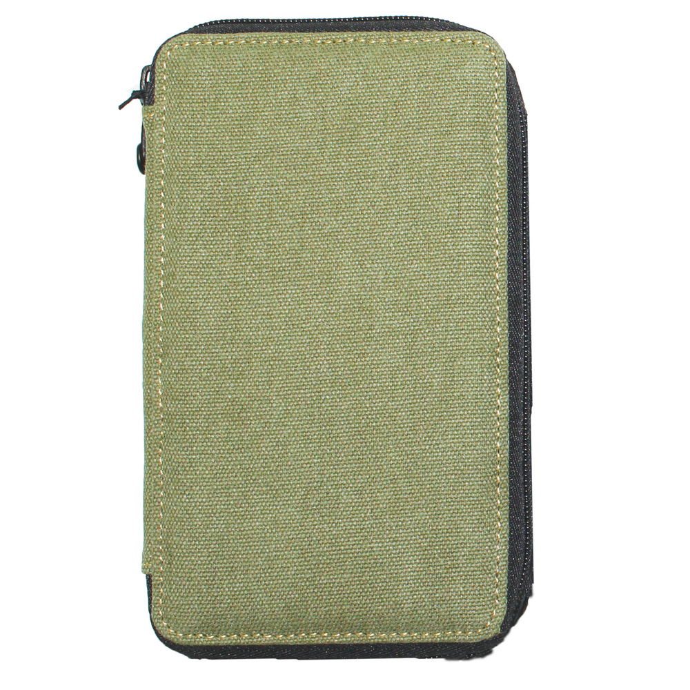 Global Art Canvas 48 Pencil Case Olive