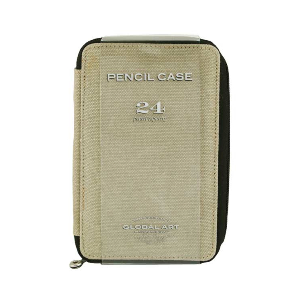 Global Art Canvas 24 Pencil Case Sage