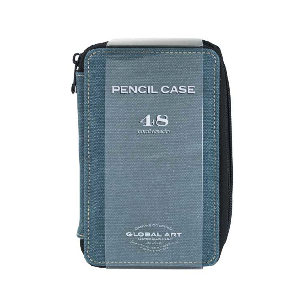 Global Art Canvas 48 Pencil Case Steel Blue