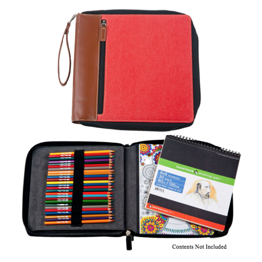 Global Art Color/Sketch Book Case Rose