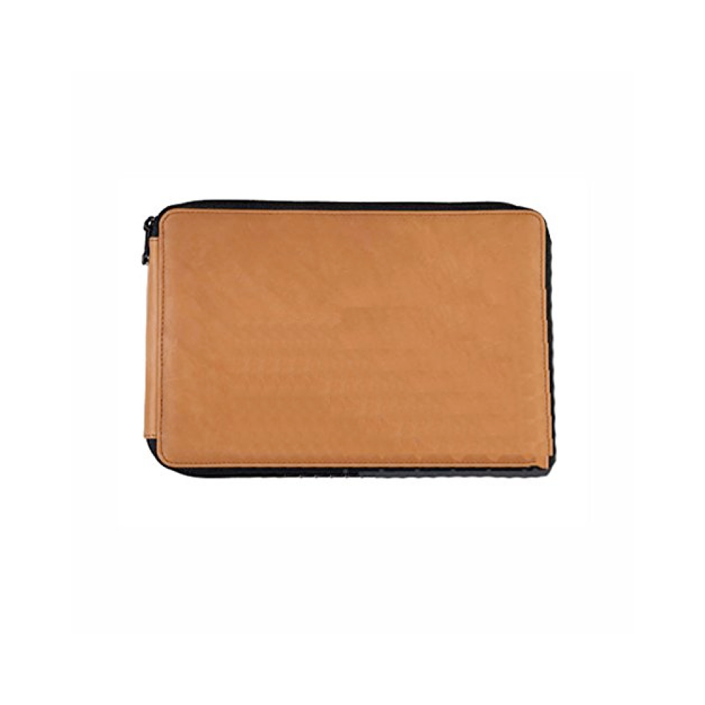 Leather Panel-Style 96/Pencil Case Brown