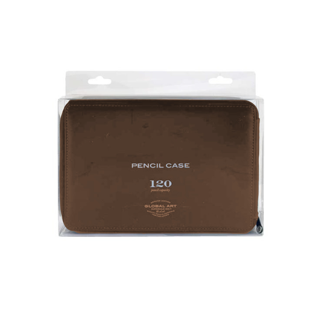 Leather Panel-Style 120/Pencil Case Brown