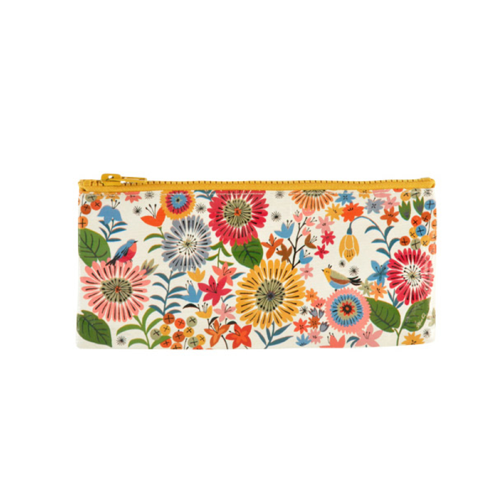Blue Q Pencil Case Flower Field