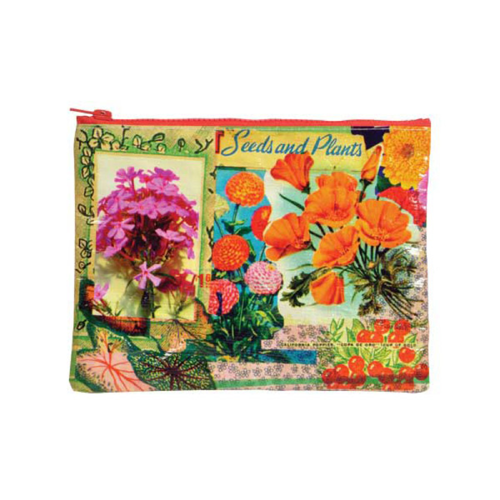 Blue Q Zipper Pouch Flower
