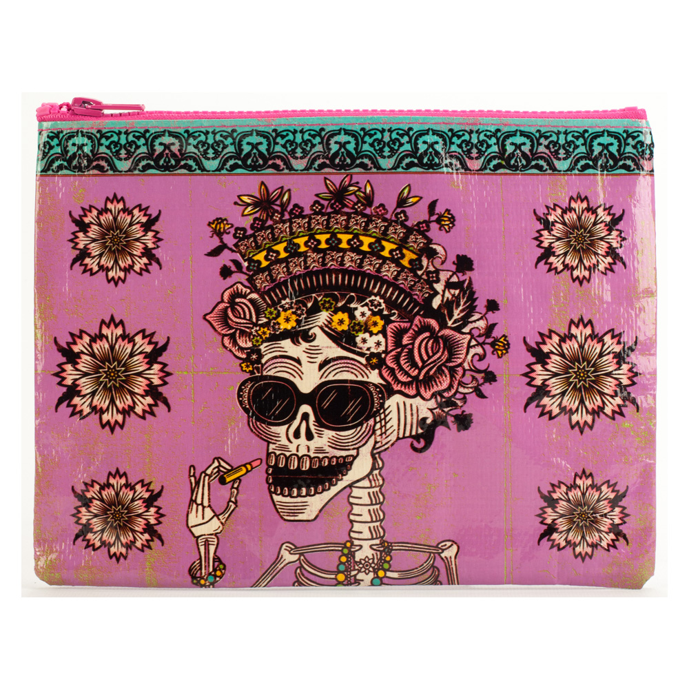 Blue Q Zipper Pouch Day Of The Dead