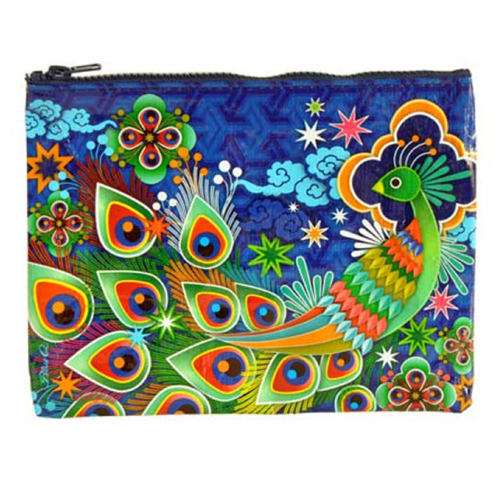 Blue Q Zipper Pouch Peacock