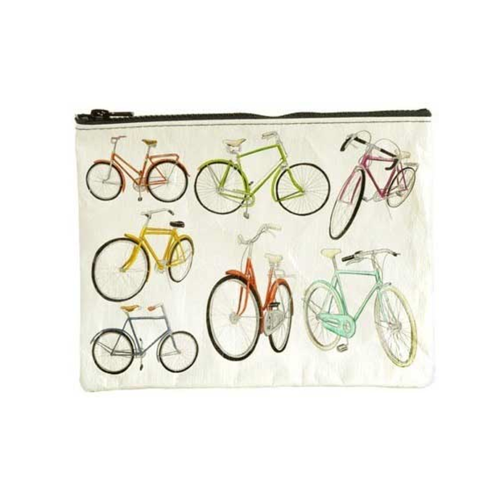 Blue Q Zipper Pouch Bicycles