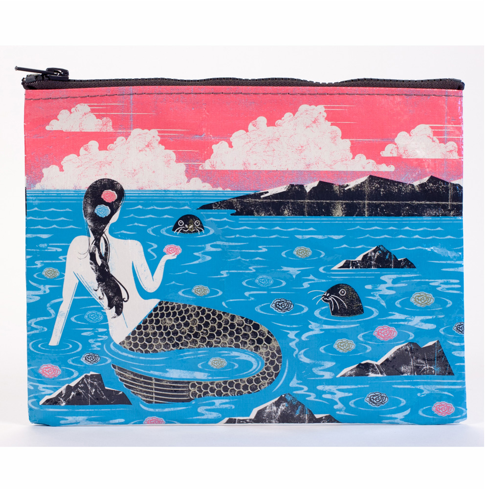 Blue Q Zipper Pouch Mermaid