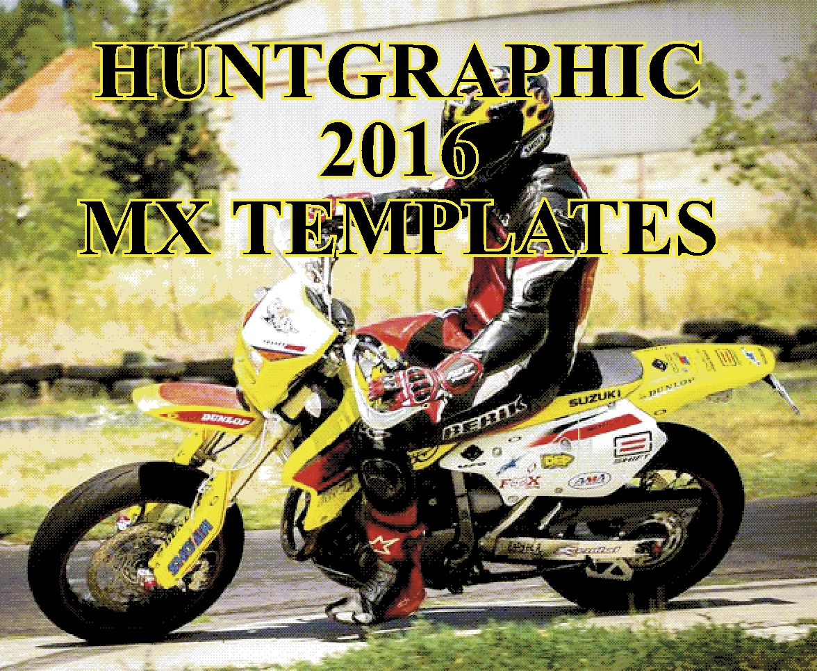 Hunt Graphic 2013 Mx Bike Template Cd