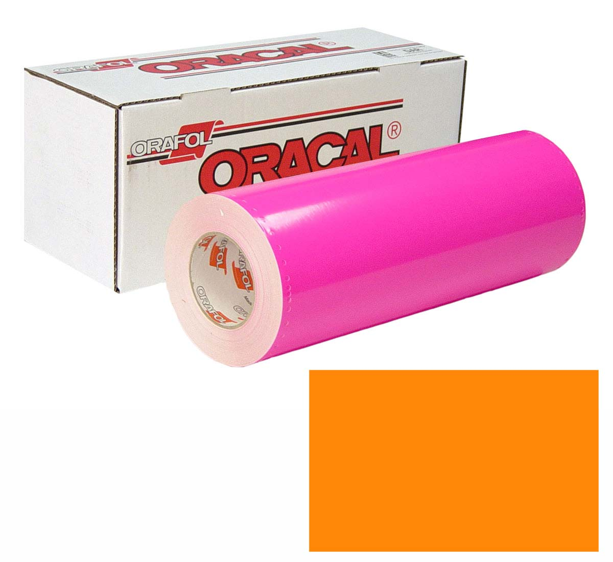 ORACAL 7510 Fluor Unp 24in X 10yd 037 Orange