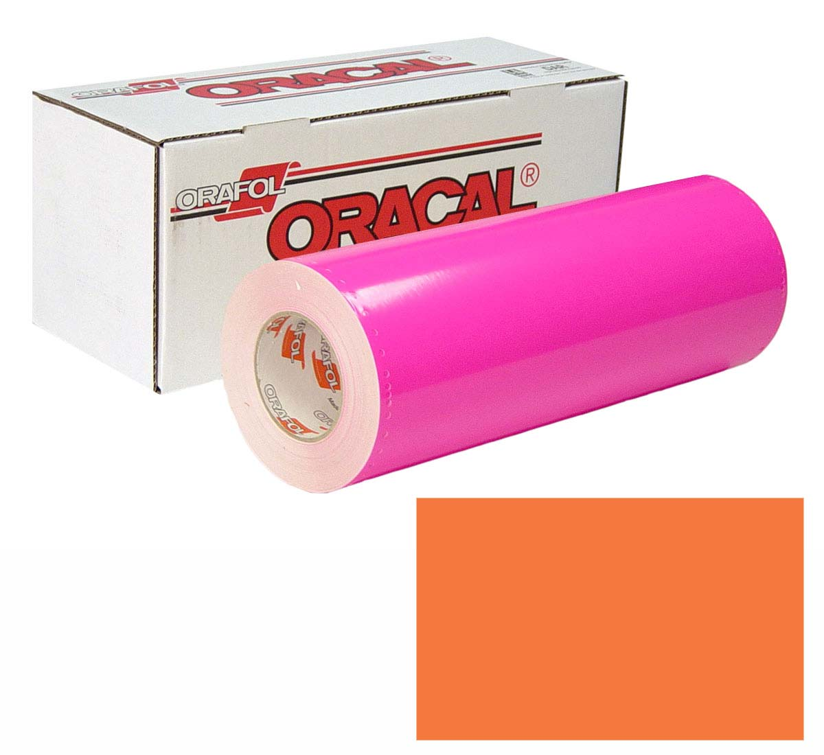 ORACAL 7510 Fluor Unp 24In X50Yd 038 Red Orng