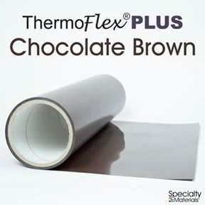 ThermoFlex Plus 15in-P X 15ft Chocolate Brown