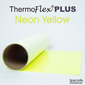 ThermoFlex Plus 15in-P X 15ft Neon Yellow