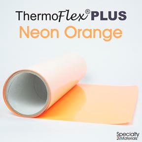 ThermoFlex Plus 15in-P X 15ft Neon Orange