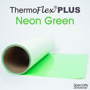 Thermoflexplus 15In Punch X 15Ft Neon Green
