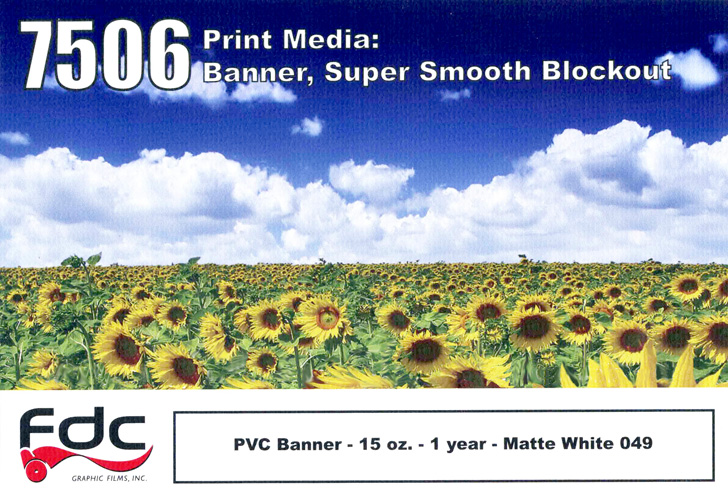 Fdc 7506 Pvc Smooth Blockout 15 Oz 38In X 40Y
