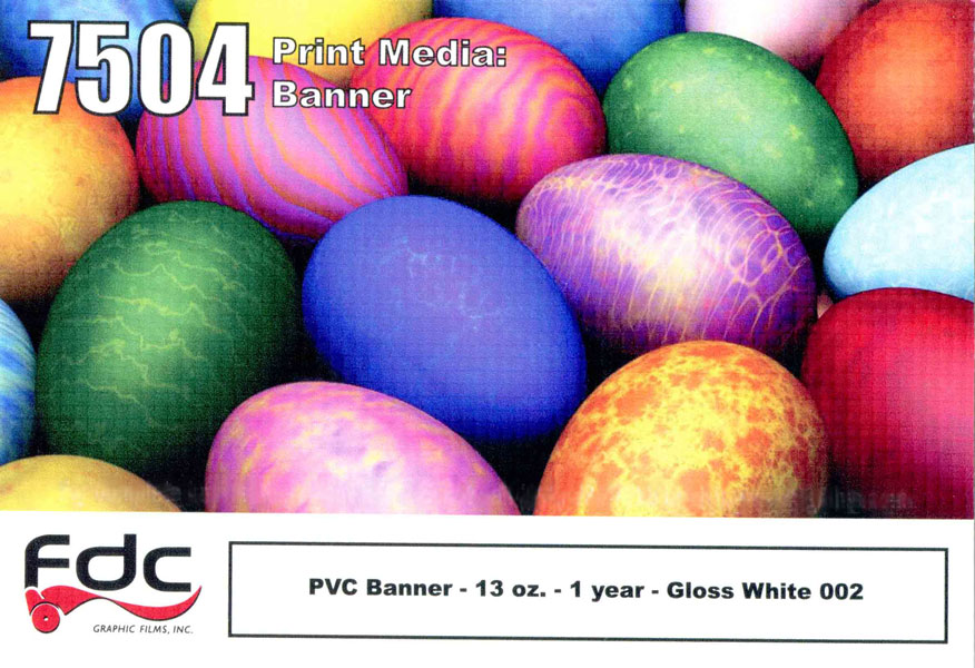 FDC 7504 PVC Banner 13 oz Gloss 54in X 40yd
