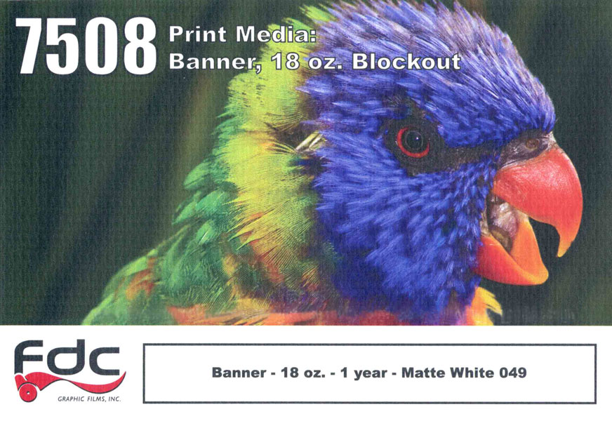 Fdc 7508 Banner 18 Oz Blockout 54In X 40Yd