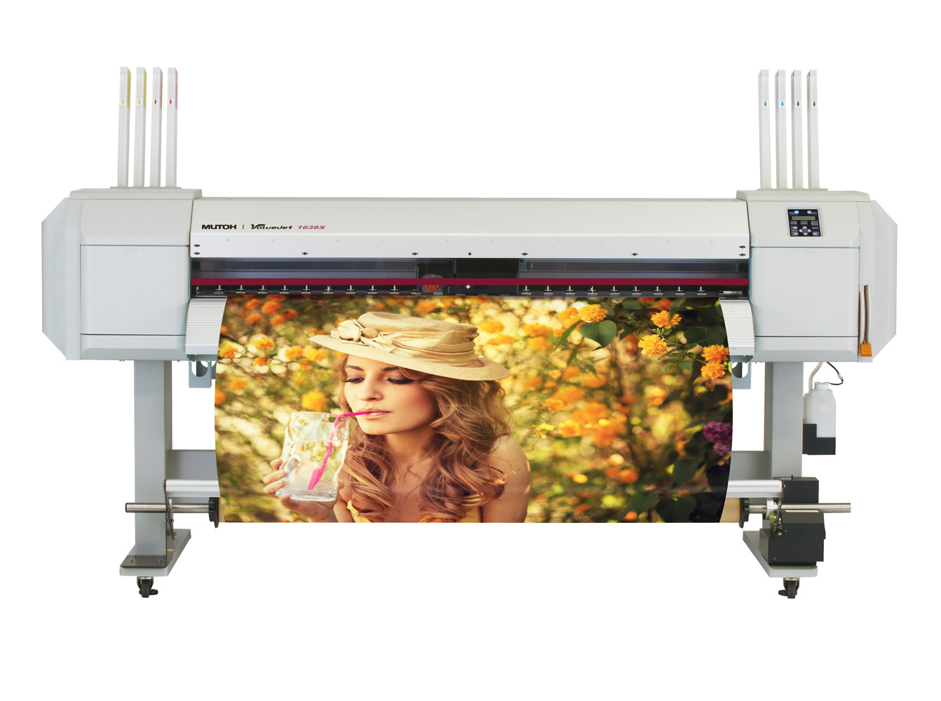 Mutoh 64in ValueJet 1638X Dual Head W/Take Up