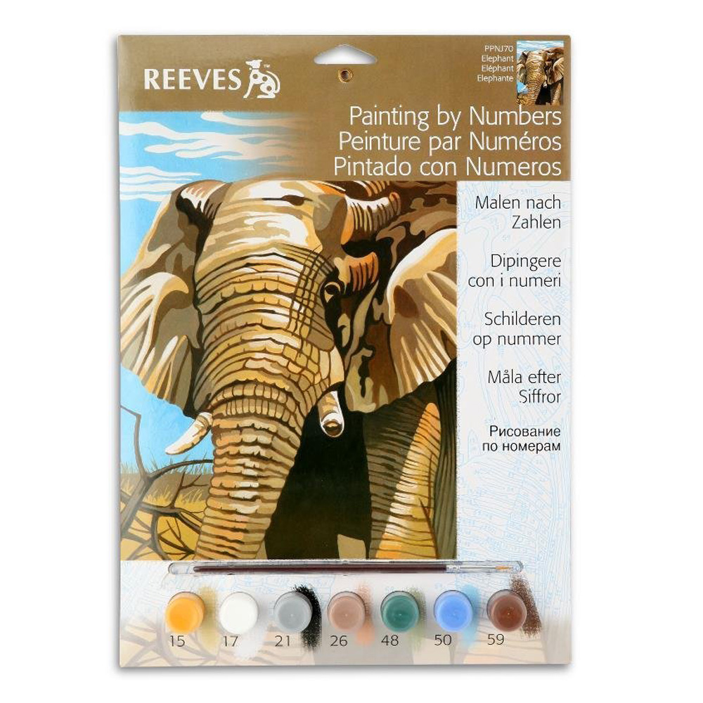 Junior Paint By Number Set Elephant