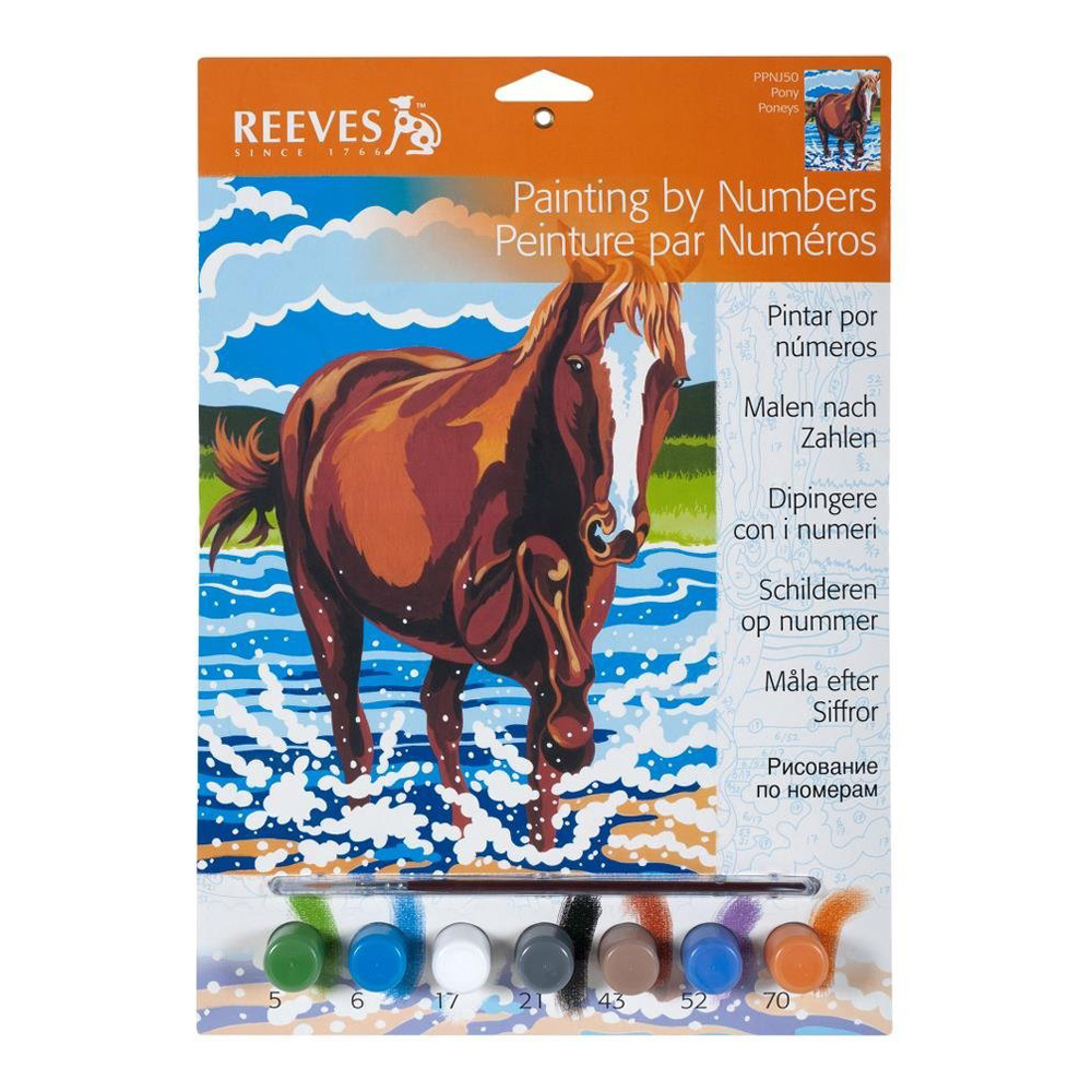 Junior Paint By Number Set Pony