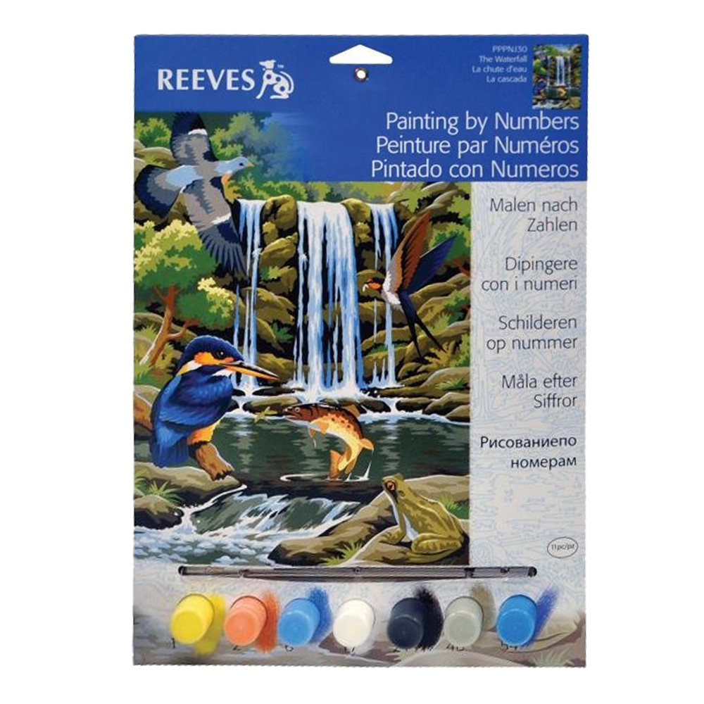 Junior Paint By Number Set Waterfall