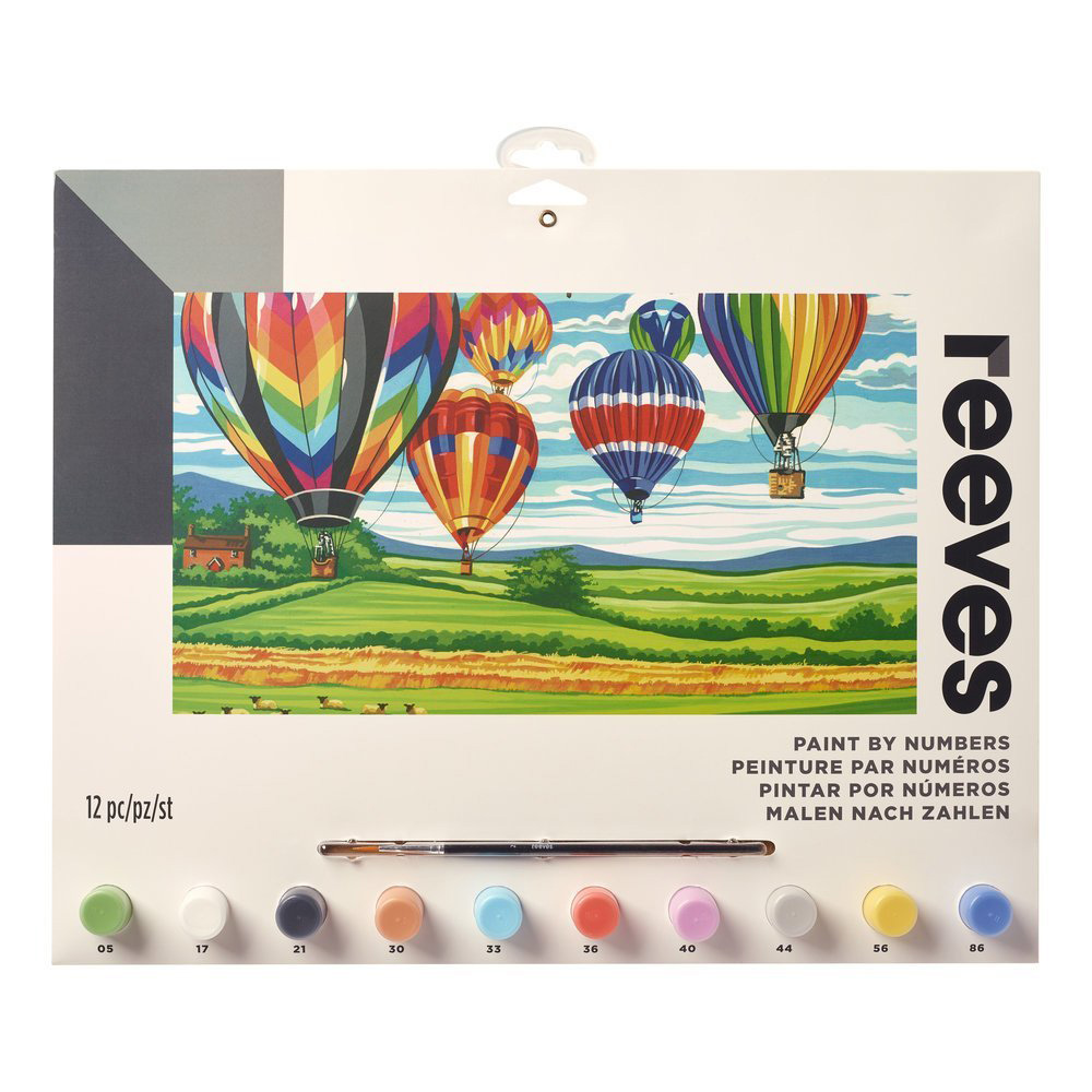 Senior Paint By Number Set Hot Air Balloons