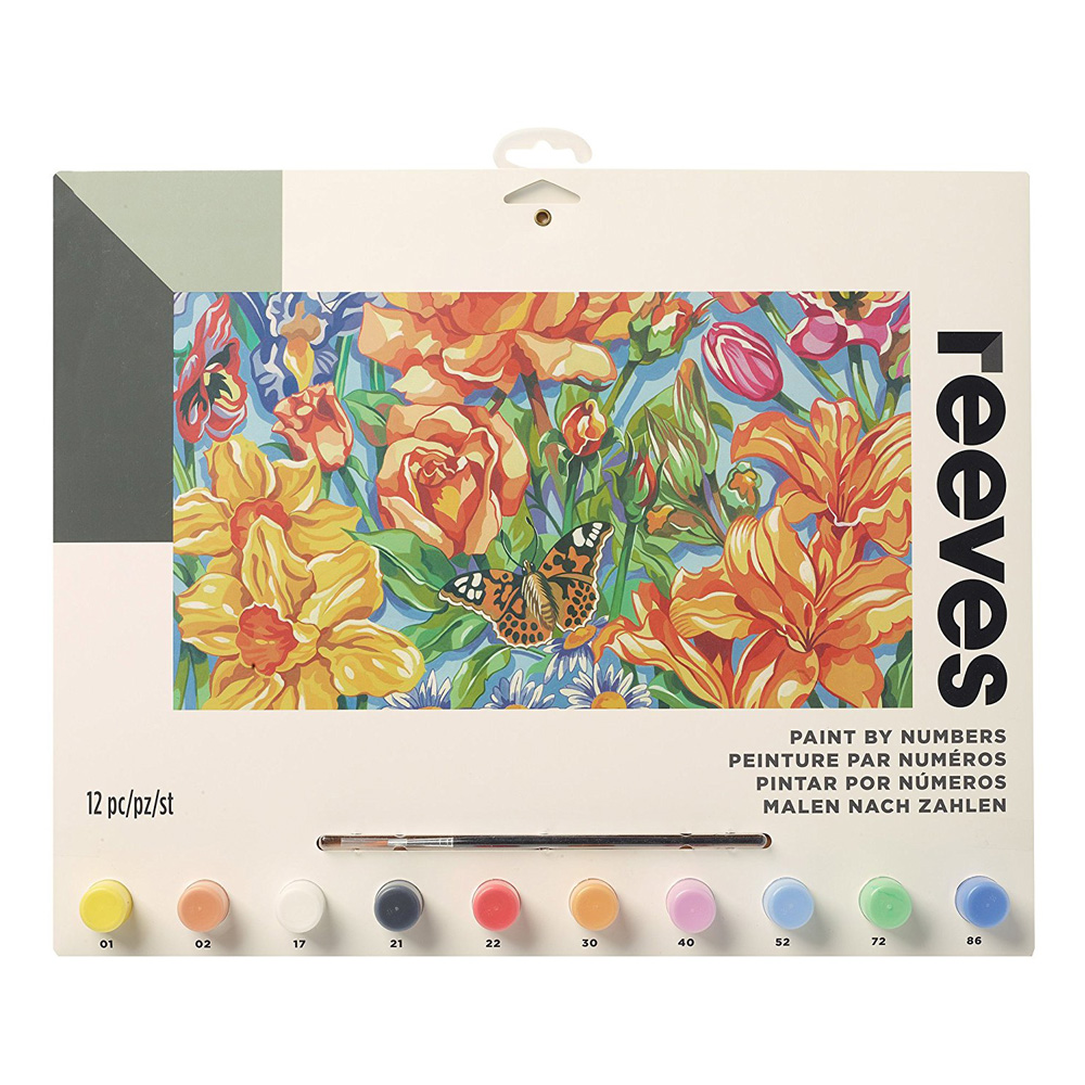 Senior Paint By Number Set Floral