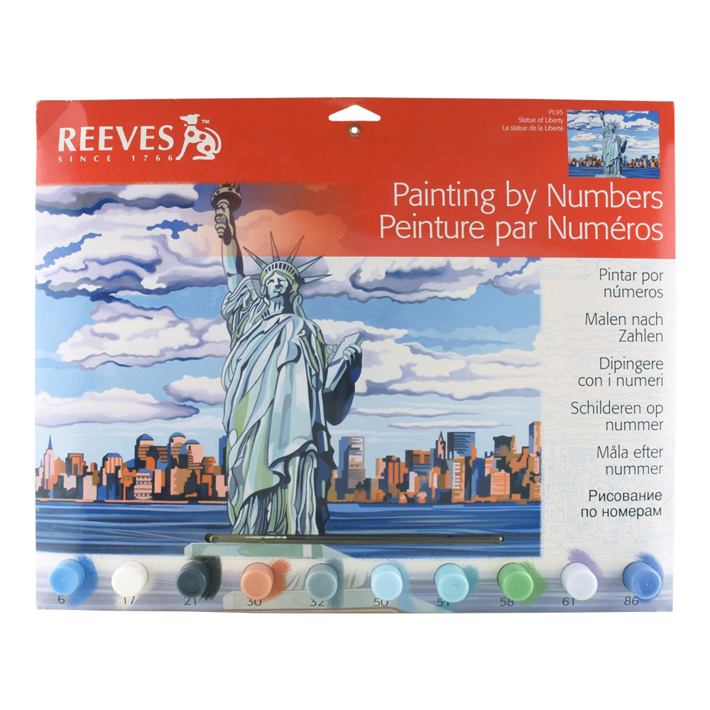 Senior Paint By Number Set Statue Of Liberty
