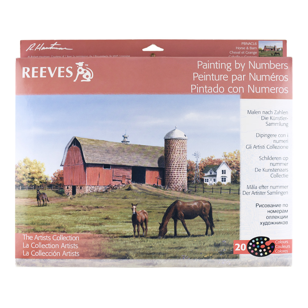 Reeves Paint By Numbers Horse And Barn 12X16
