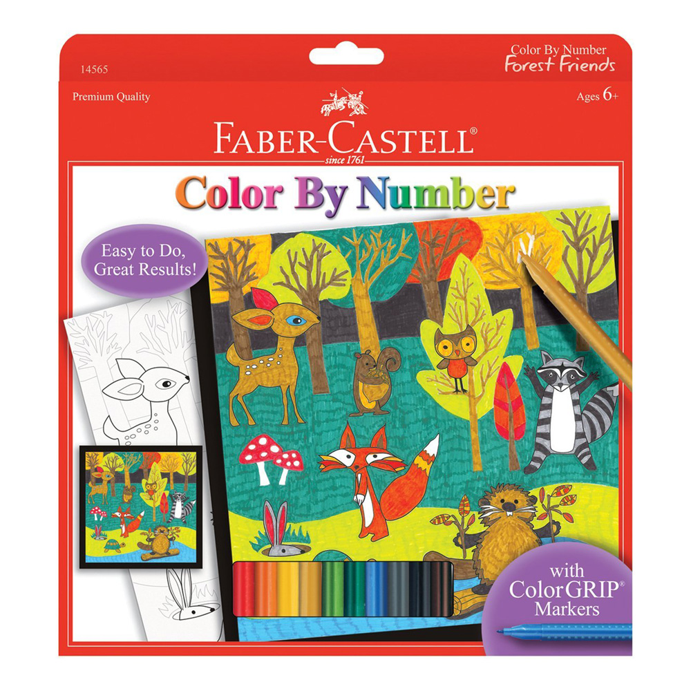 Faber-Castell Color By Number Forest Friends