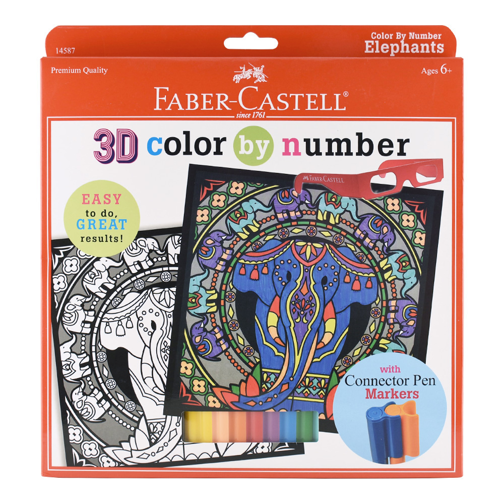 Faber-Castell Color By Number Elephants
