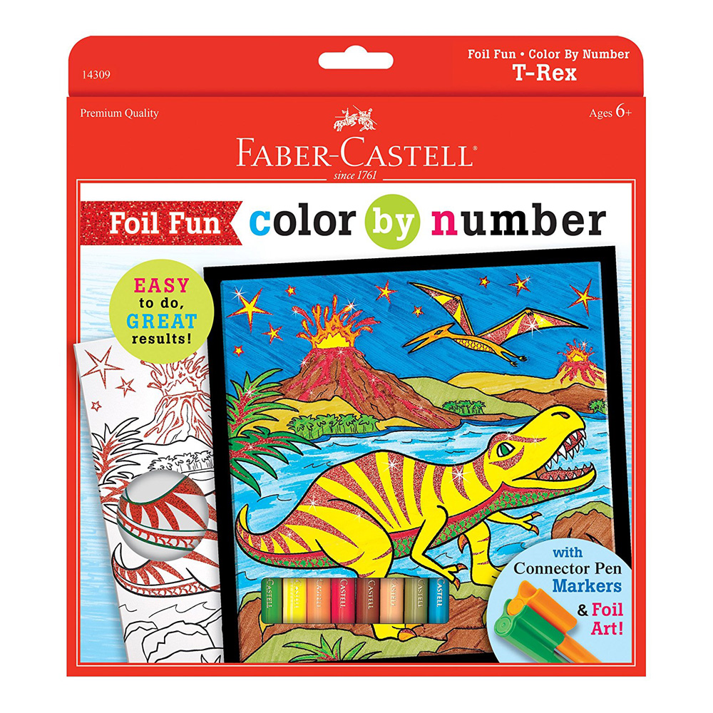 Faber Castell Color By Number T-Rex
